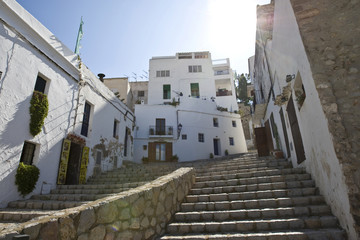 Old town of Eivissa, Ibiza, Baleares, Spain, Europe