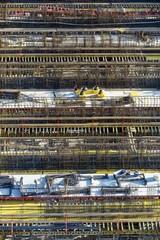 Rebar or reinforcing steel, construction site, Stuttgart, Baden-Wuerttemberg, Germany, Europe