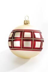 Christmas ornament, patterned ball