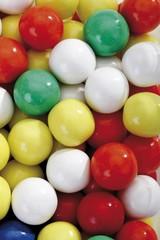 Multicoloured gumballs, full frame