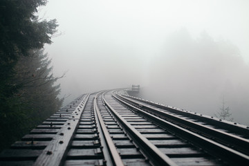 Foggy Second Trestle