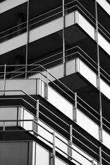 Modern architecture details in Hamburg harbour district