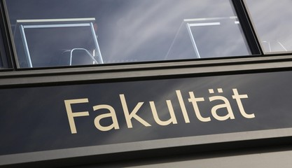 """Faculty"" sign in Berlin, Germany, Europe"