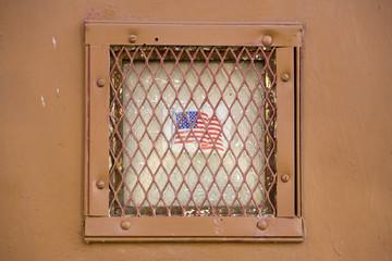 "Stars and stripes ""behind bars"""