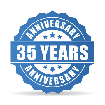 35 years anniversary vector icon