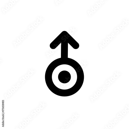 Astronomical Symbol Of Uranus Black Sign Isolated Vector
