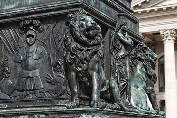 Max I. Joseph memorial, Max-Joseph-Platz, Munich, Bavaria, Germany, Europe