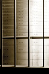 Lockers behind bars