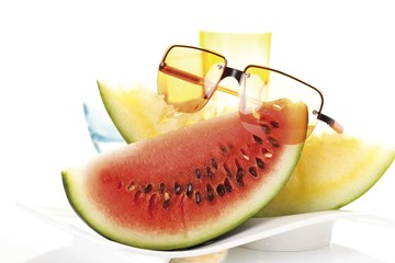 Yellow Watermelon, Watermelon and sunglasses, symbol for summertime