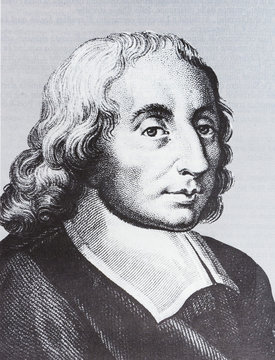 Portrait of the scientist philosopher Blaise Pascal