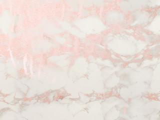 Rosegold marble background. Shiny, glitter and glossy effect for an elegant and feminine wallpaper.