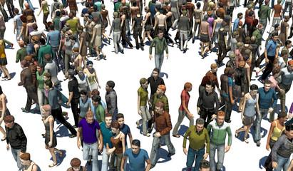 Persone, Emerginazione, Diversità, Isolamento, Illustrazione 3d