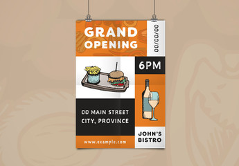Restaurant Grand Opening Flyer Layout 1