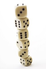 Dice, stacked