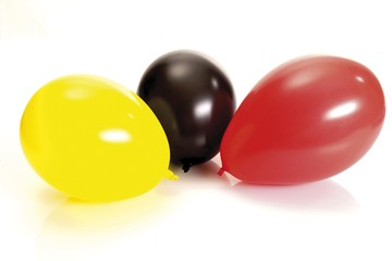 Three balloons, German national colours