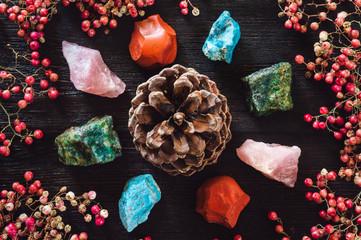 Pine Cone with Stones