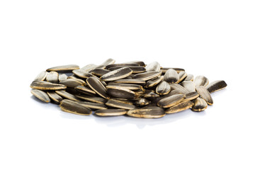 sunflower seeds isolated on a white background