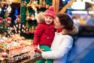 Family shopping Christmas presents