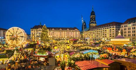 Weihnachtsmarkt in Dresden, Deutschland
