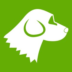 Beagle dog icon green