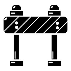 Road block icon, simple black style