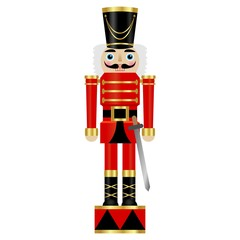 Vector illustration of a nutcracker with sword