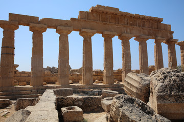 The Acropolis at Selinunte. Sicily. Italy