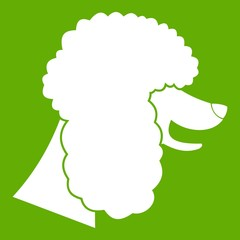Poodle dog icon green