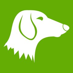 Dachshund dog icon green