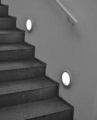 Treppe schwarz-weiß
