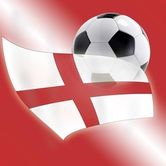 Football and English flag