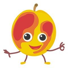 Peach icon, cartoon style