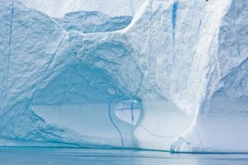 Iceberg in Disko Bay, Greenland, Arctic, North America