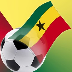 Football with Ghana flag