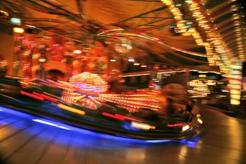 Carousel, Oktoberfest, Munich, Bavaria, Germany, Europe