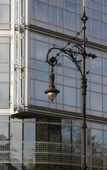 Street lamp on Kudamm avenue, Berlin, Germany, Europe