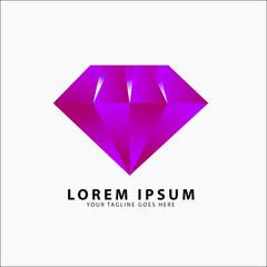 Diamond Logo 3D Purple template
