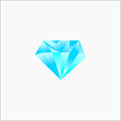 Diamond Logo 3D Blue template