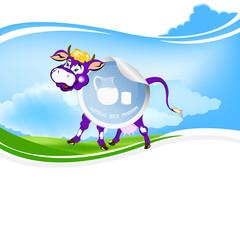 dairy farm cow.sticker milk product your company