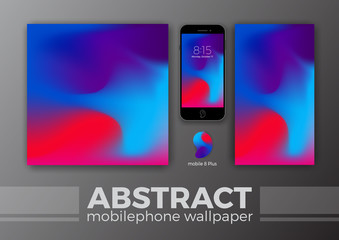 Abstract Background Design for Mobile Wallpaper and Other Design. Smart Phone Mockups Design