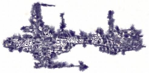 Spaceship Rocket Doodle art illustration