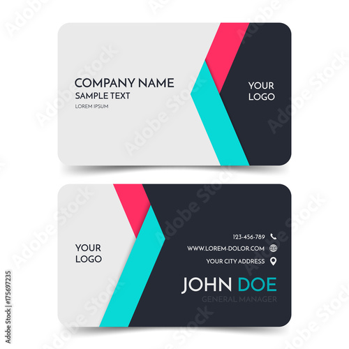 Red and blue modern business card template vector corporate red and blue modern business card template vector corporate identity card design eps10 reheart Image collections