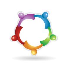 Teamwork social people, icon vector