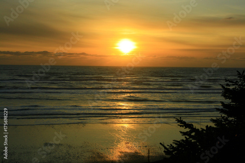 Wall mural a picture of an Pacific Northwest beach sunset
