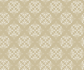 Wallpaper baroque, damask. Beige and white vector background. Vintage ornament. background for wallpaper, printing on the packaging paper, textiles, tile.