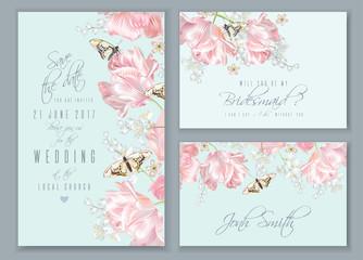 Tulip butterfly set