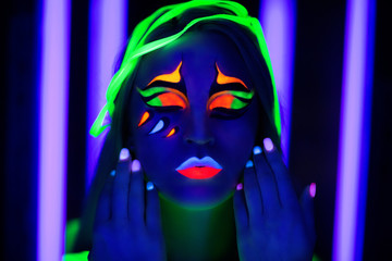 Woman neon art