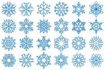 Snowflake Vector Ornaments Set 9