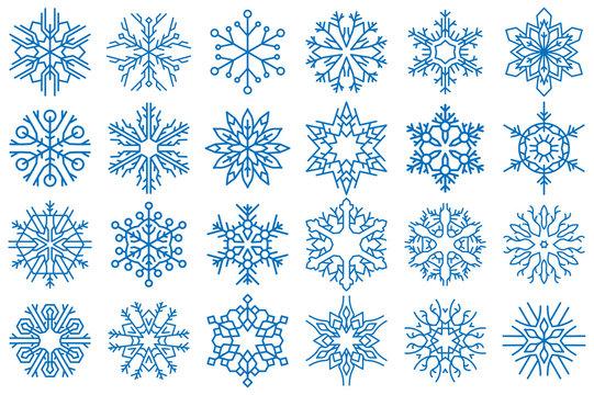 Snowflake Vector Ornaments Set 9