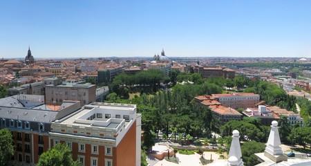 Aerial image of Madrid, Spain.